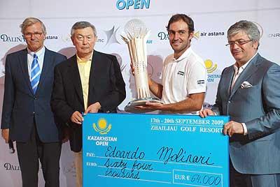Награждение победителя Kazakhstan Open 2009