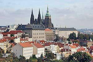 Вид на старую часть Праги