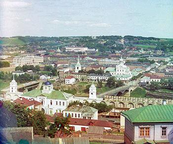 Вид на Смоленск с колокольни Успенского собора