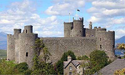 Замок Харлек в Уэльсе
